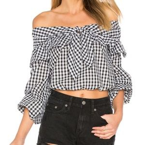 Lovers + Friends Rebecca Top in Gingham Small